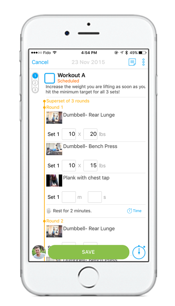 trainerize mobile-workout